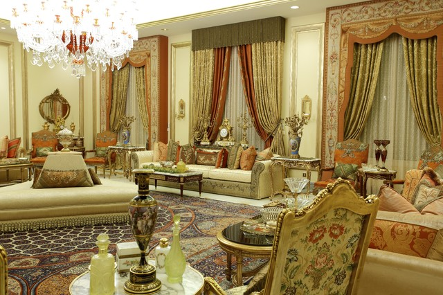Example Of A Huge Classic Formal Living Room Design In Other With Beige  Walls And No Part 97