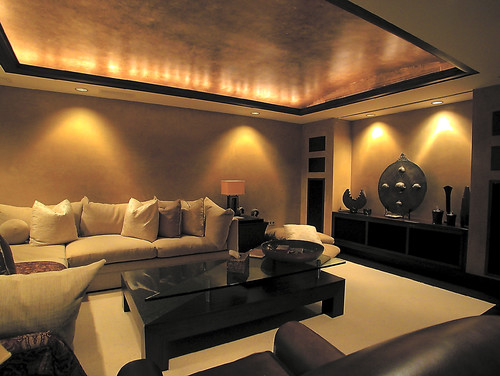 Ambient lighting design indulgences for Living room wall lights