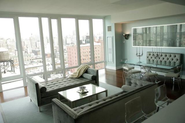 UWS coop apartment design modern-living-room