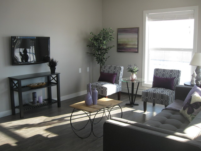 vacant home staging terracove estates ne transitional living room calgary by creative. Black Bedroom Furniture Sets. Home Design Ideas