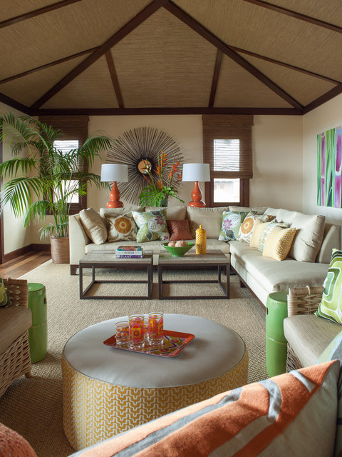 Florida Living Room Design Ideas: Vacation Villa, Hawaii
