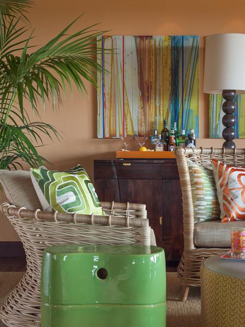 Vacation Villa, Hawaii eclectic-living-room