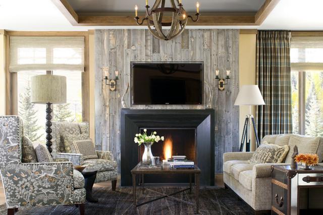 Barn Wood Fireplace | Houzz