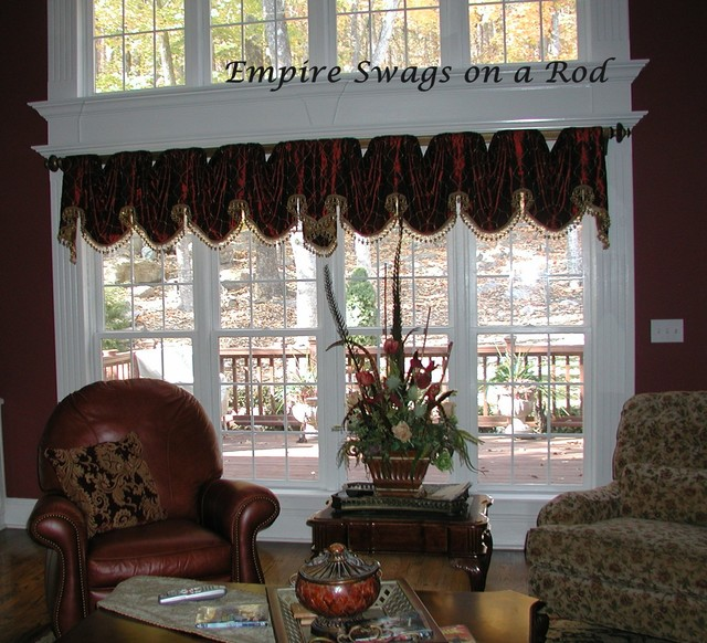 valances on rods traditional living room other by