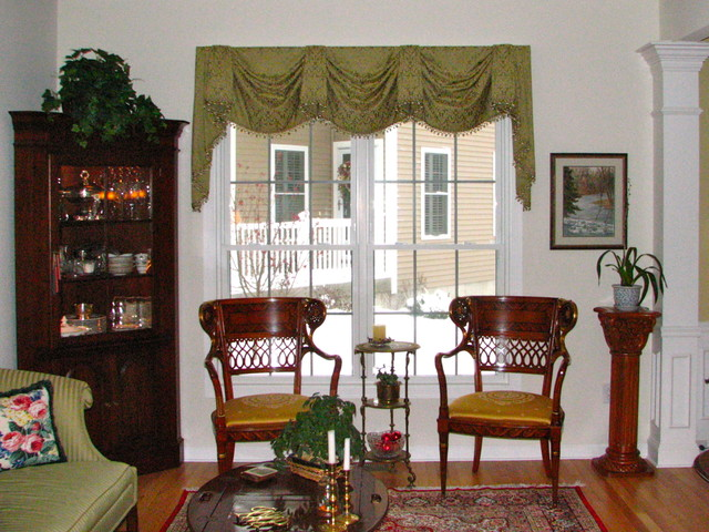 Living Room Valances valances - top treatments - traditional - living room - bridgeport