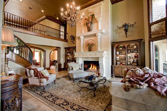 Valley Crest Family Room mediterranean-living-room