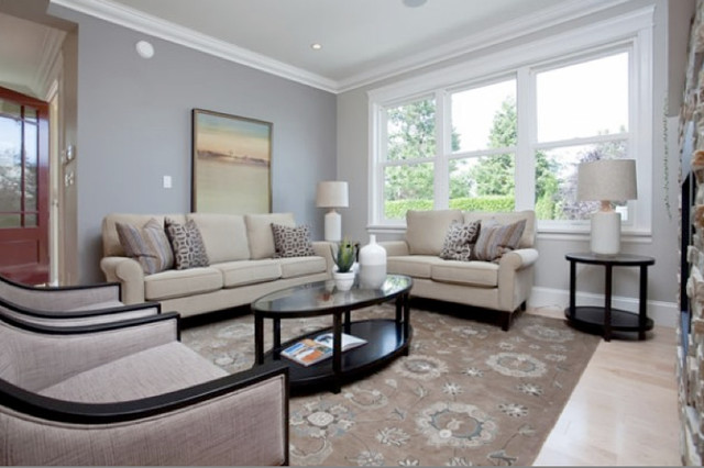 Vancouver, Point Grey Heritage Conversion traditional-living-room
