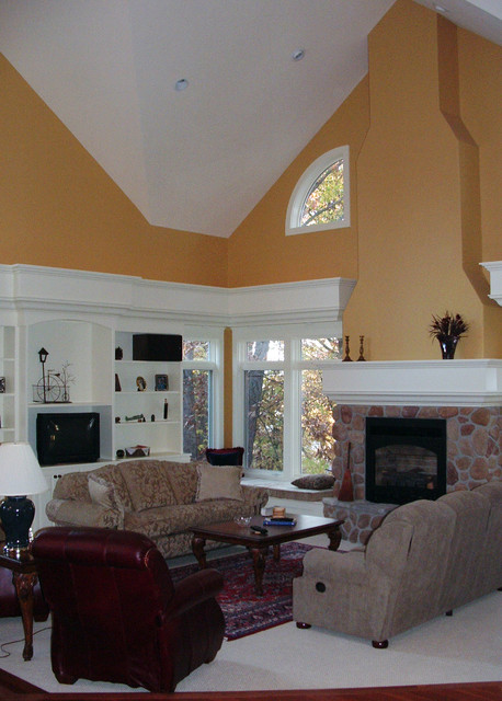 Vaulted Traditional Home traditional-living-room