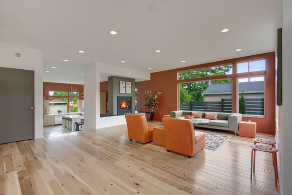 vc natural hickory  modern  living room  seattle