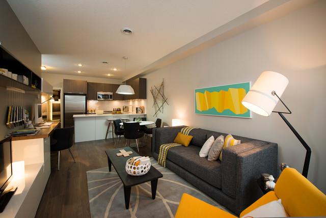 Ven Contemporary Living Room Calgary By Portico Design Group