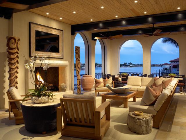 Venetian Bay mediterranean-living-room