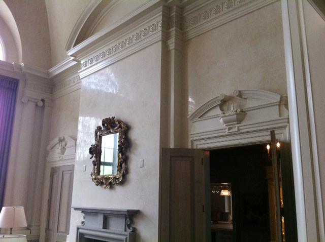 Venetian Plaster Cloumbus GA Mediterranean Living Room