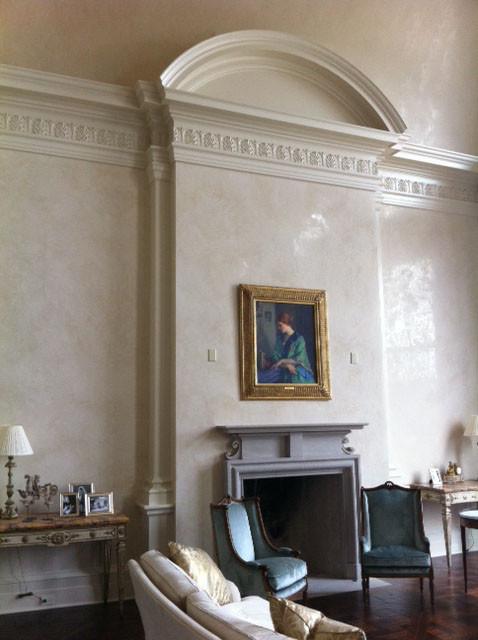 Venetian Plaster Cloumbus Ga Mediterranean Living Room Atlanta By Roma Eco
