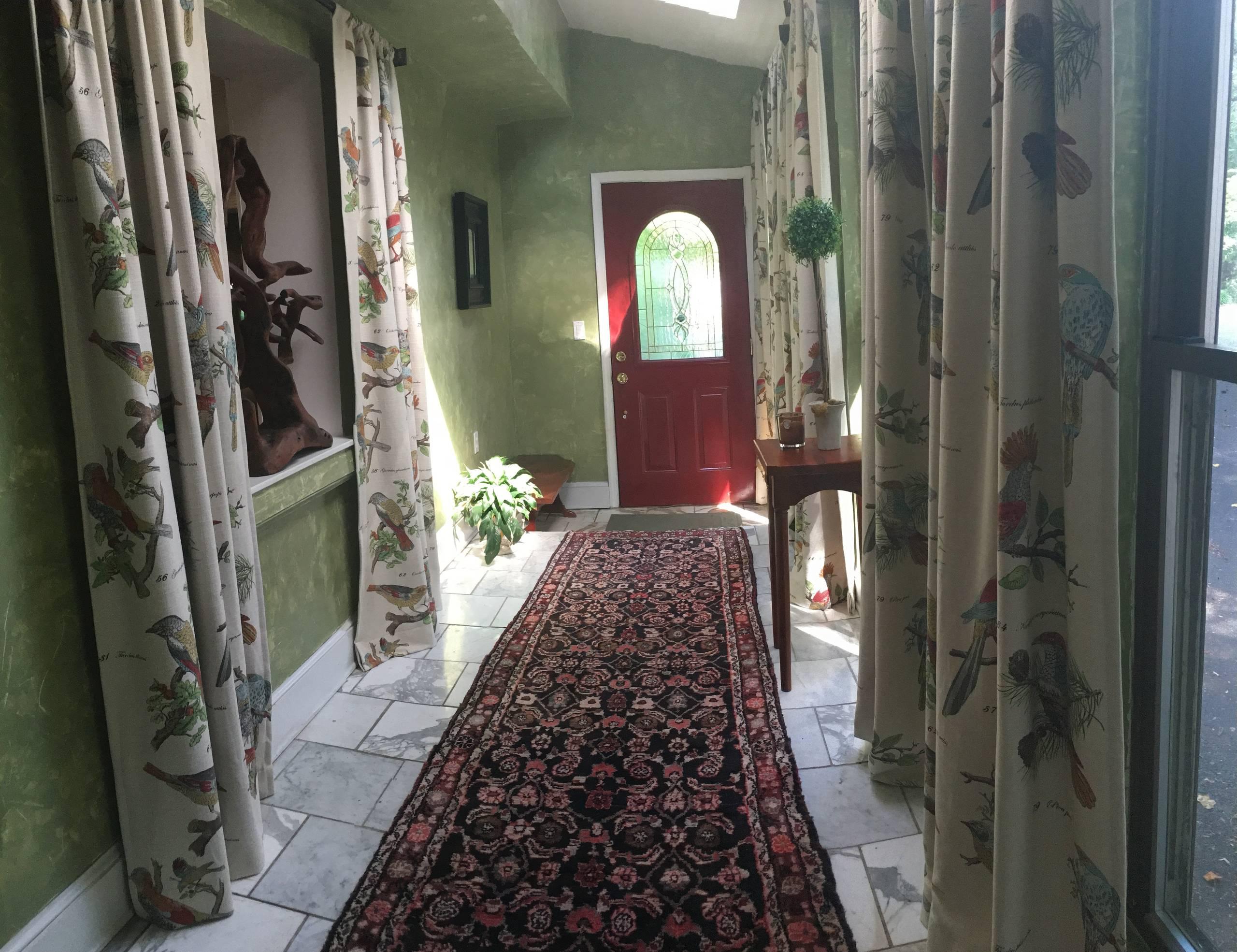 Venetian Plaster, entry way, Red Door