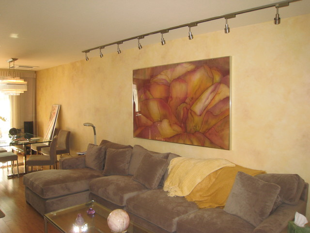 Venetian plaster, Faux finishes, Murals, Frescoes, Stenciling contemporary-living-room