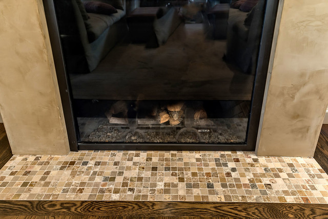 Venetian Plaster Fireplace Eclectic Living Room San Francisco By Bill Fry Construction