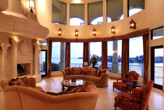 Venetian Style Waterfront Palazzo Mediterranean Living