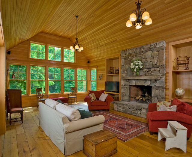 Woodstock Vermont Hilltop Home traditional-living-room