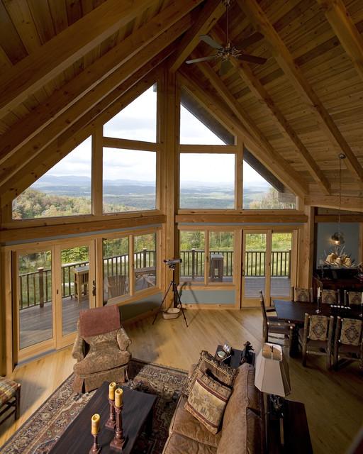 Vermont ski prow contemporary living room burlington for Prow house plans