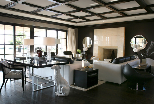Bon Example Of A Trendy Living Room Design In Los Angeles
