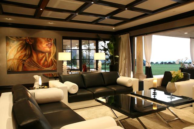 Versace Contemporary Living Room
