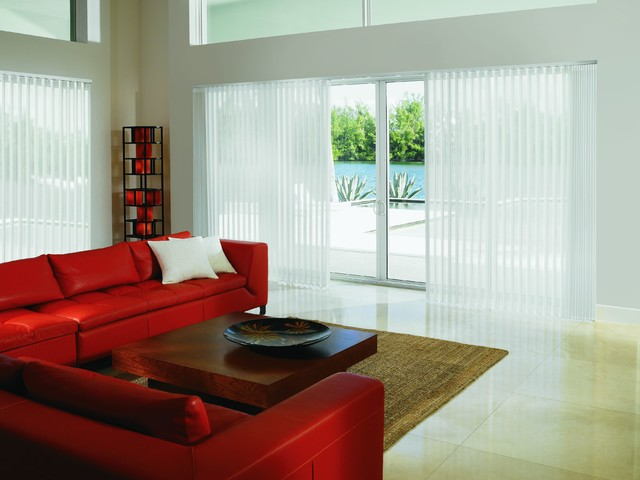 vertical blinds and alternatives contemporary living room