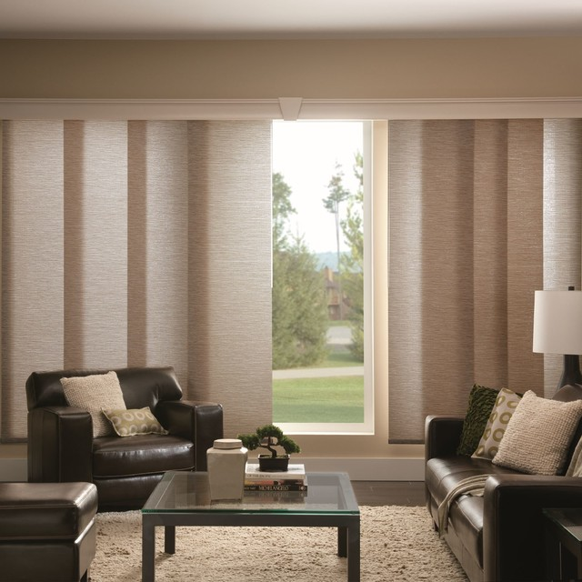 Vertical Blinds And Alternatives Contemporary Living Room Houston By Blinds Com Houzz Au