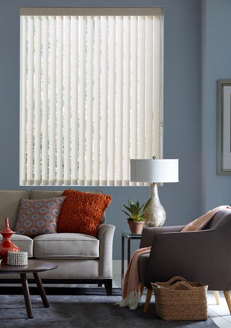 Vertical blinds and alternatives living room houston for Living room vertical blinds