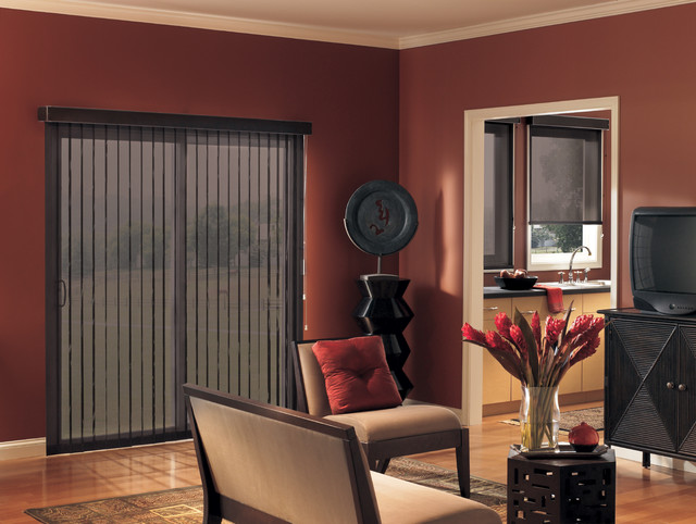 Vertical Blinds For Sliding Glass Doors traditional-living-room