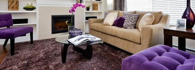 "Vesta Properties - ""Blume"" Show Suite B contemporary-living-room"