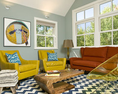 Vibrant Family Room - Grace Home Design eclectic living room