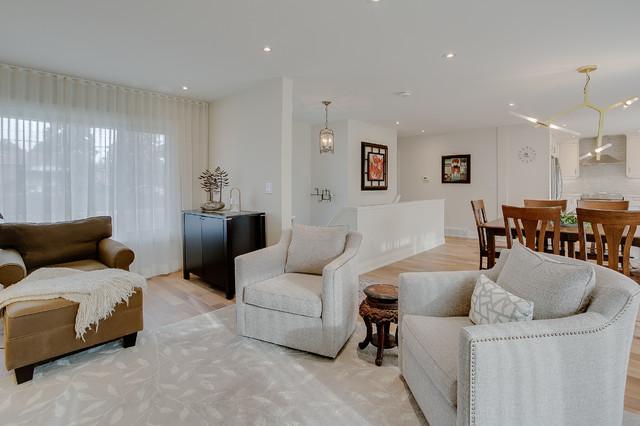 Victoria Village transitional-living-room