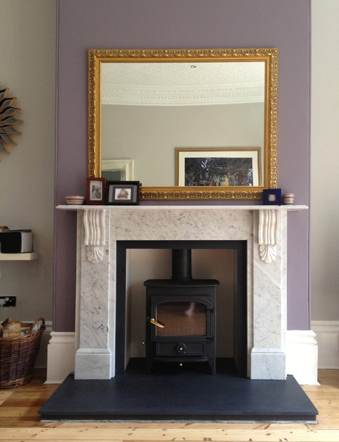 Victorian Classical Corbelled Carara Marble Fire Surround