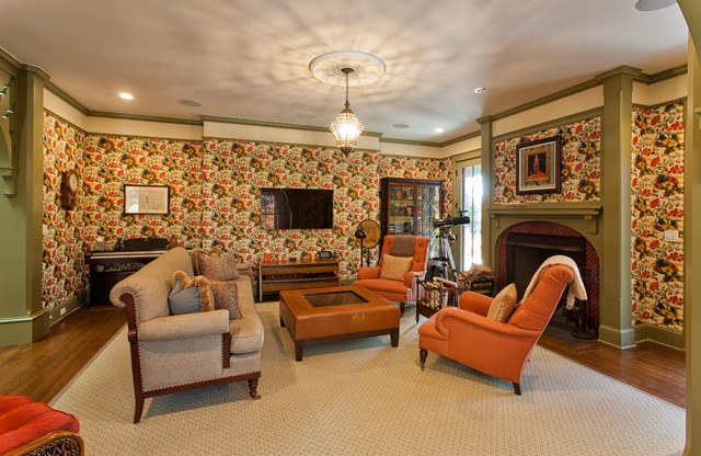 Victorian Guest Cottage Victorian Living Room New York By Doyle Coffin Architecture Llc