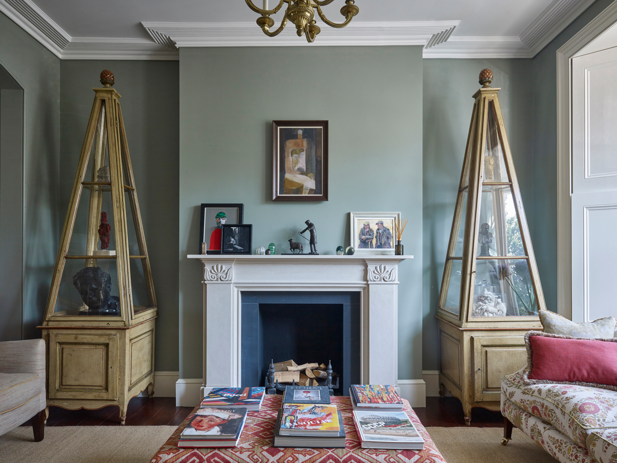 75 Beautiful Victorian Living Room With Green Walls Pictures Ideas March 2021 Houzz