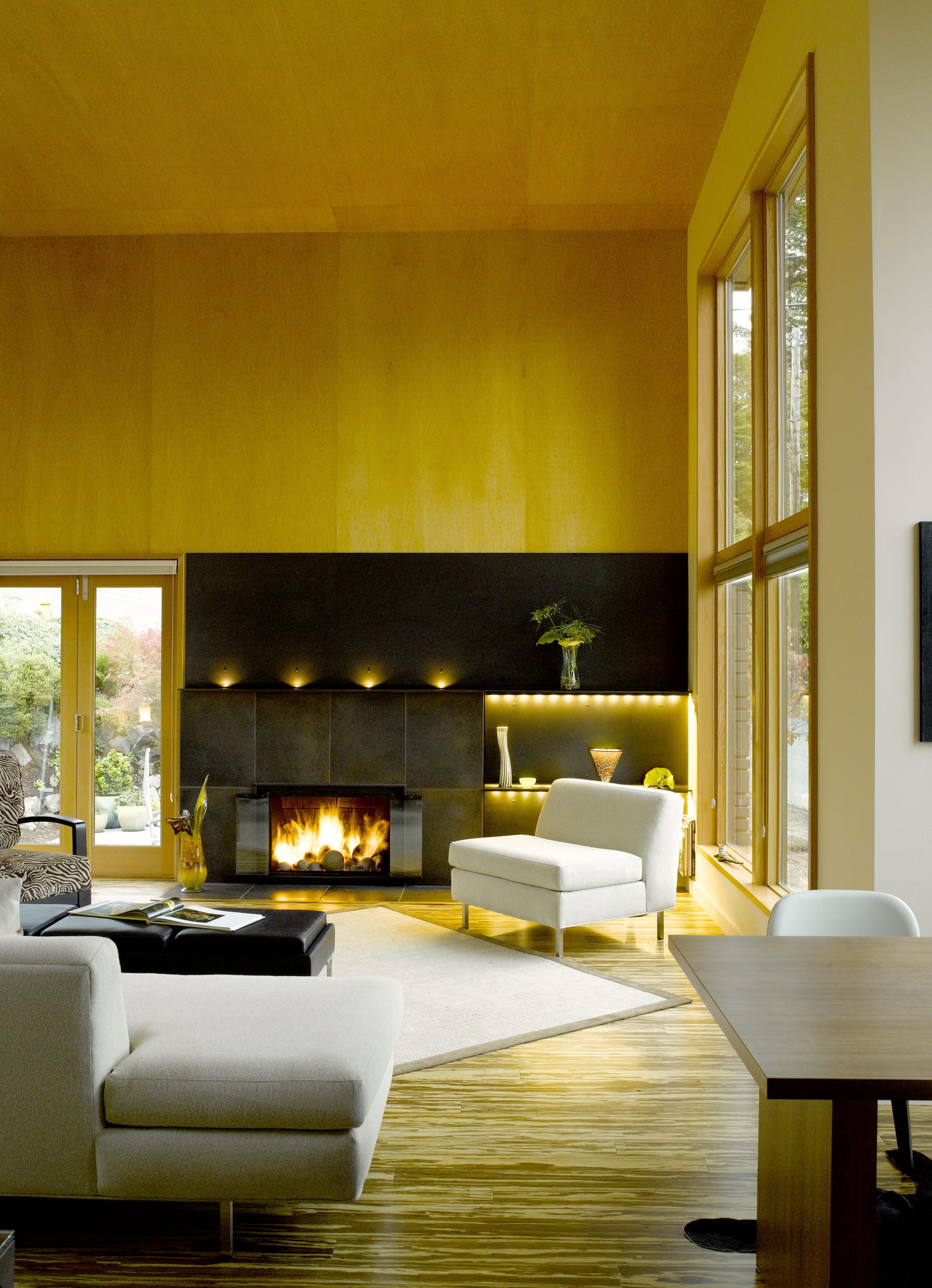 75 Beautiful Modern Bamboo Floor Living Room Pictures Ideas February 2021 Houzz