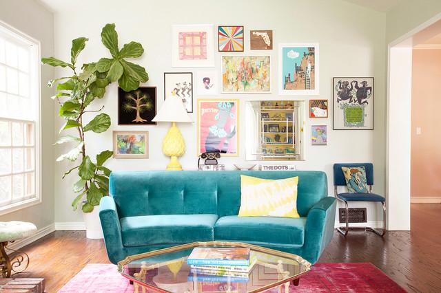 Villa A+E eclectic-living-room