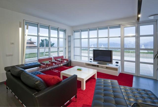 villa blu sky modern-living-room