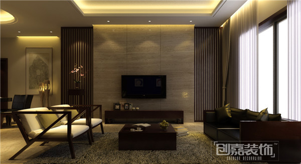 Villa decoration asian living room other by for Asiatique decoration