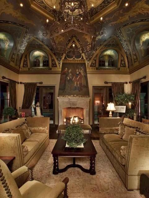 Villa Del Cielo mediterranean-living-room