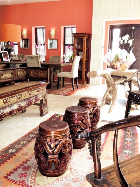 Villa Ensueno eclectic-living-room