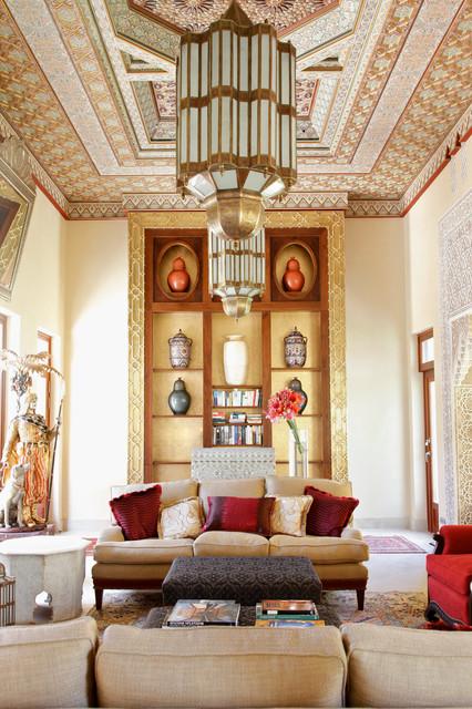 Villa morocco mediterranean living room london - Moroccan living room furniture for sale ...