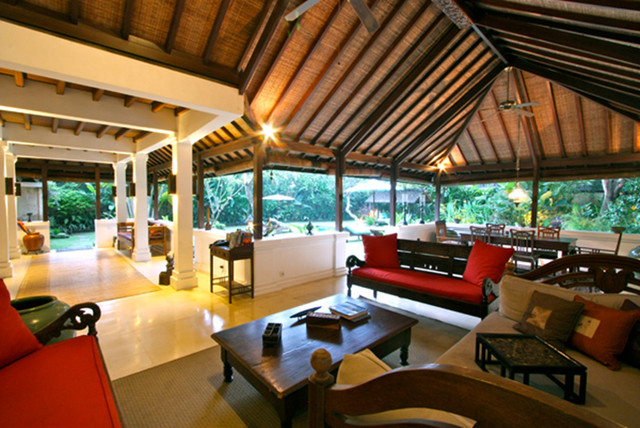 Villa OM In Bali Tropical Living Room