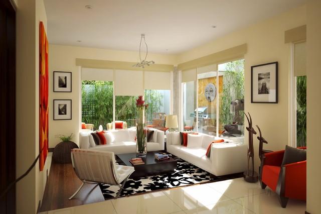 Villas de Guadalupe contemporary-living-room
