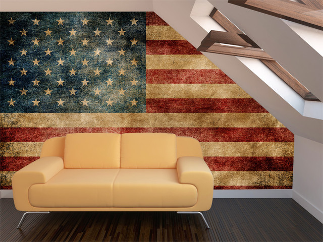 american flag living room vintage american flag wall mural 12874