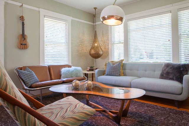 vintage bungalow mid century modern living by kimball