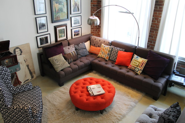 Vintage Industrial Loft Space - Eclectic - Living Room - los angeles - by Madison Modern Home
