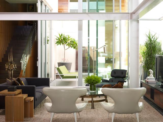 Vintage Loft Living Contemporary Living Room New