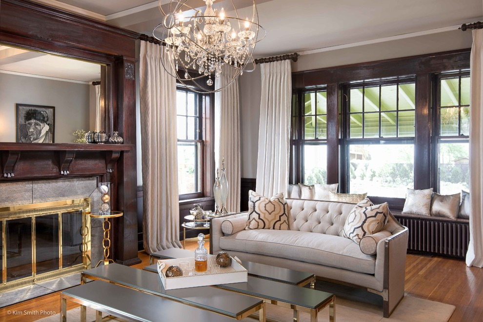 Vintage meets contemporary Hollywood Glam - Transitional ...