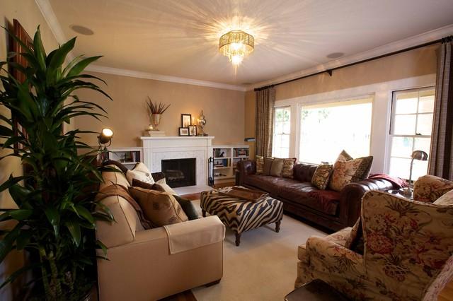 Vintage modern living for Living room antique and modern